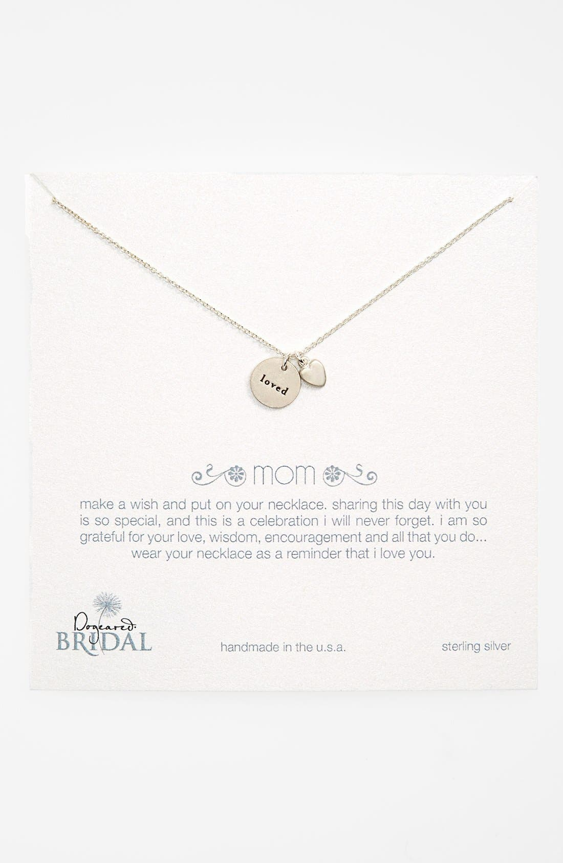 Main Image - Dogeared 'Mom Loved - Heart' Pendant Necklace (Nordstrom Exclusive)