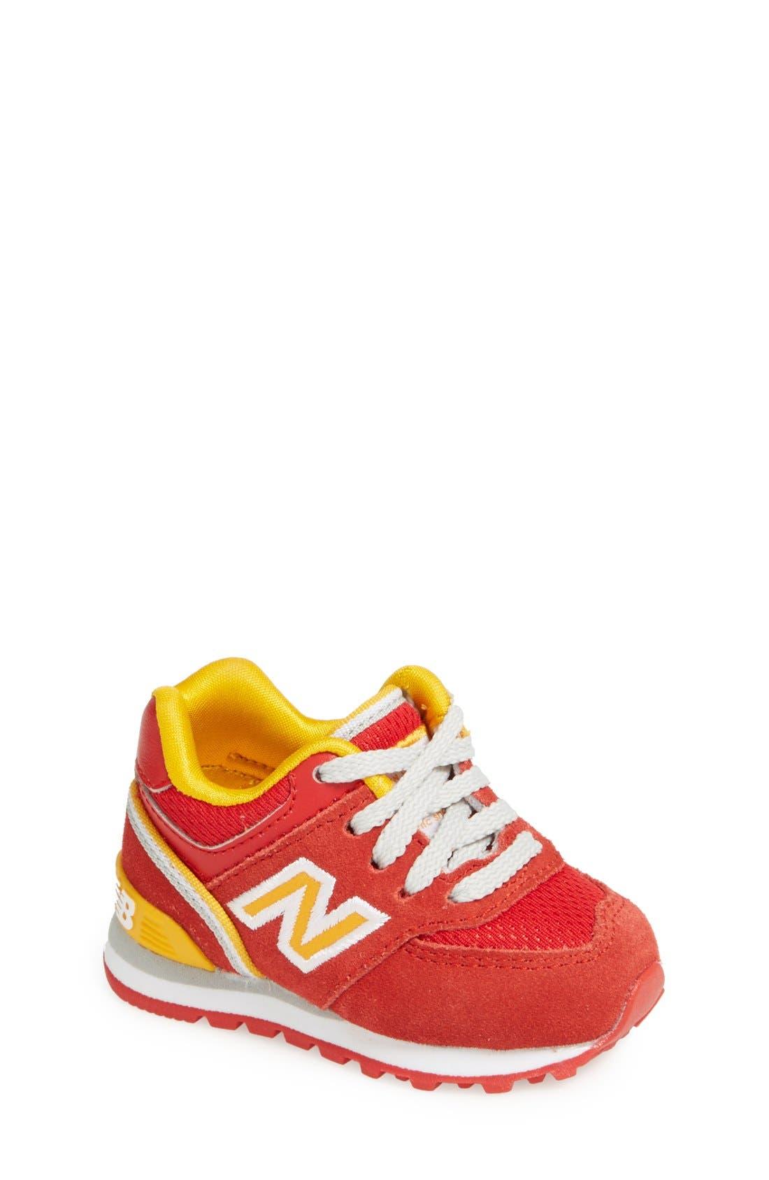 Alternate Image 1 Selected - New Balance '574 - Stadium' Sneaker (Baby, Walker & Toddler)