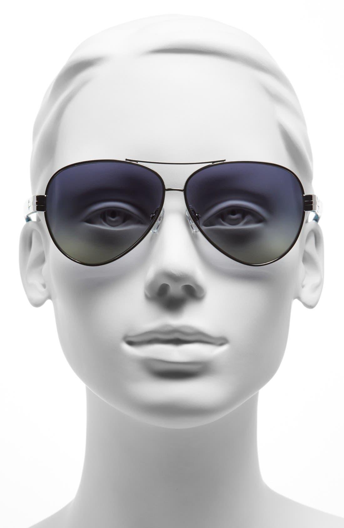 Alternate Image 2  - Tory Burch 59mm Polarized Aviator Sunglasses (Online Only)
