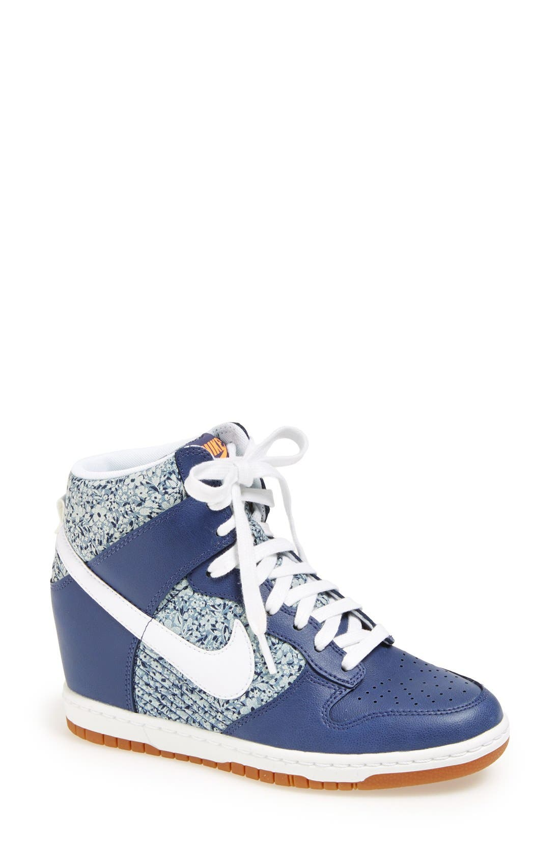 Alternate Image 1 Selected - Nike 'Dunk Sky Hi Liberty' Hidden Wedge Sneaker (Women)