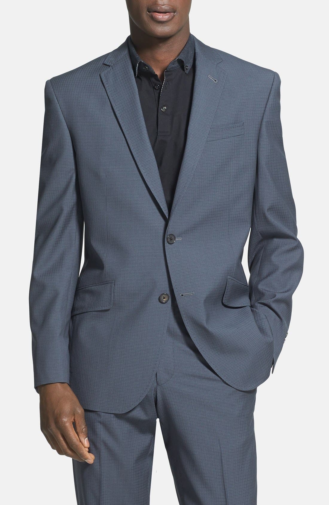 Alternate Image 3  - Ted Baker London 'Jones' Trim Fit Check Suit (Online Only)