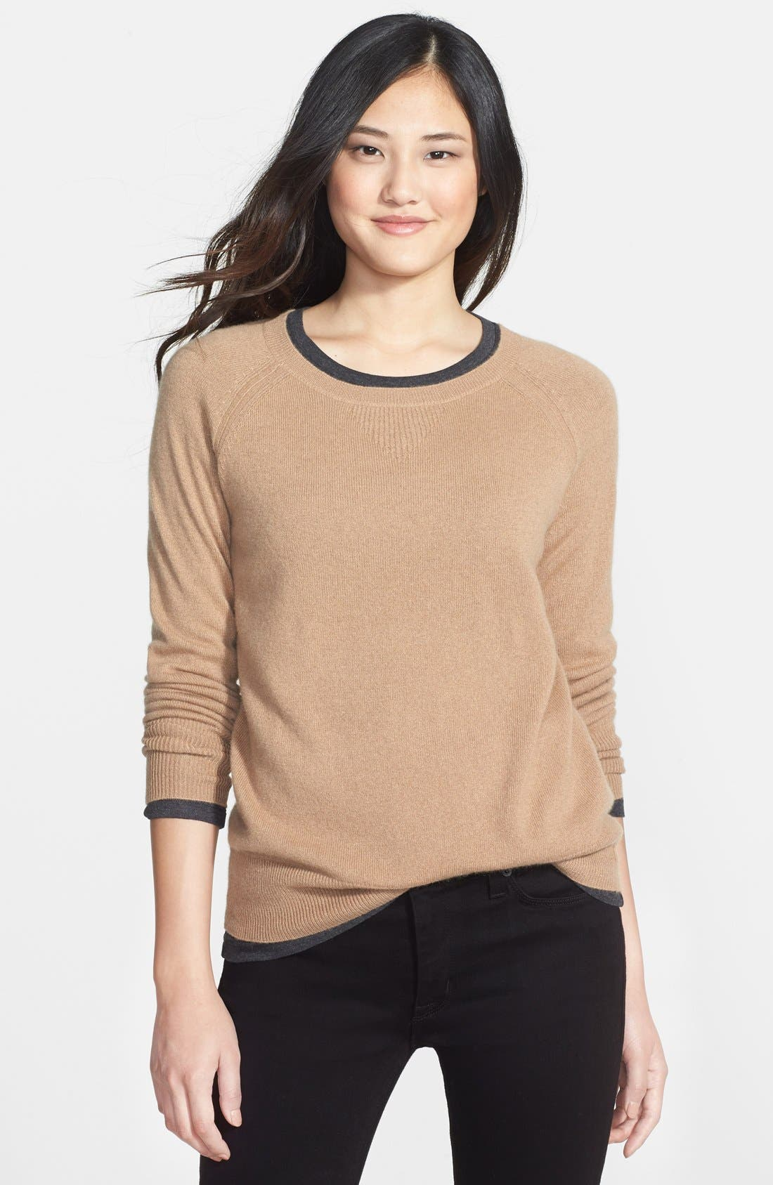 Main Image - Halogen® Solid Cashmere Sweater