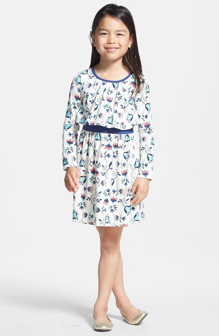 Tea Collection V Gelchen Floral Print Dress Toddler