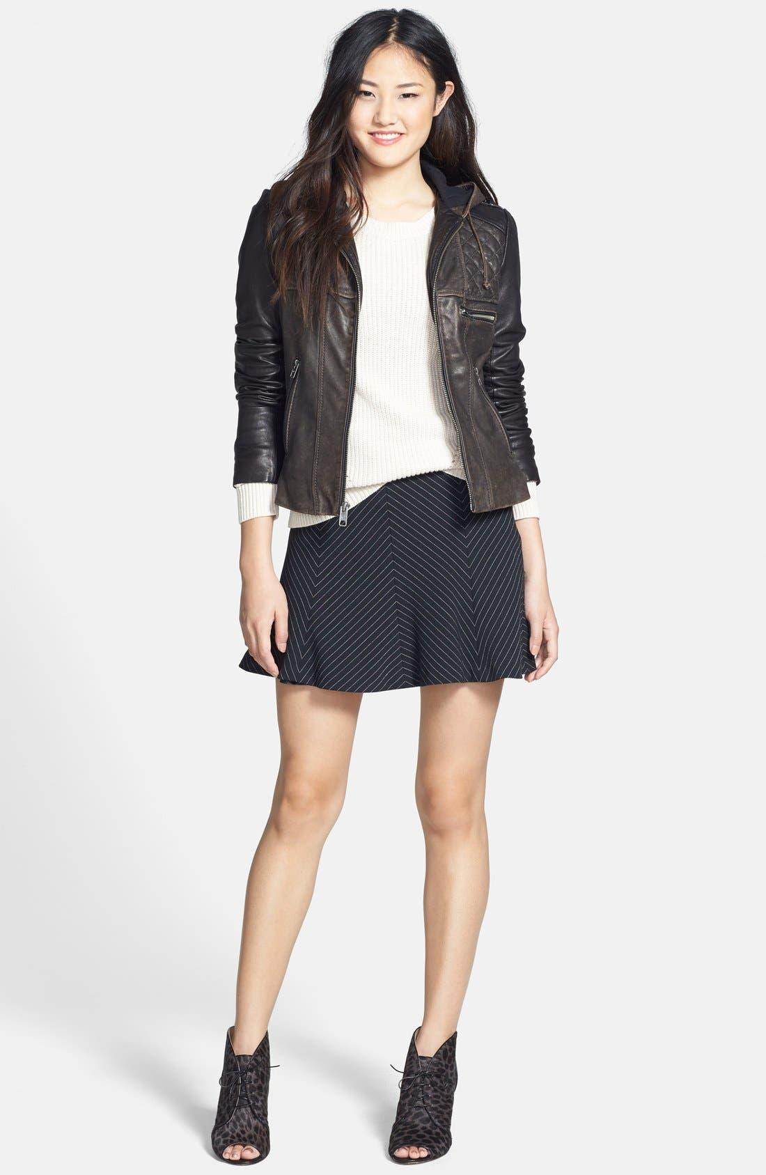 Alternate Image 5  - MICHAEL Michael Kors Pinstripe Flare Miniskirt