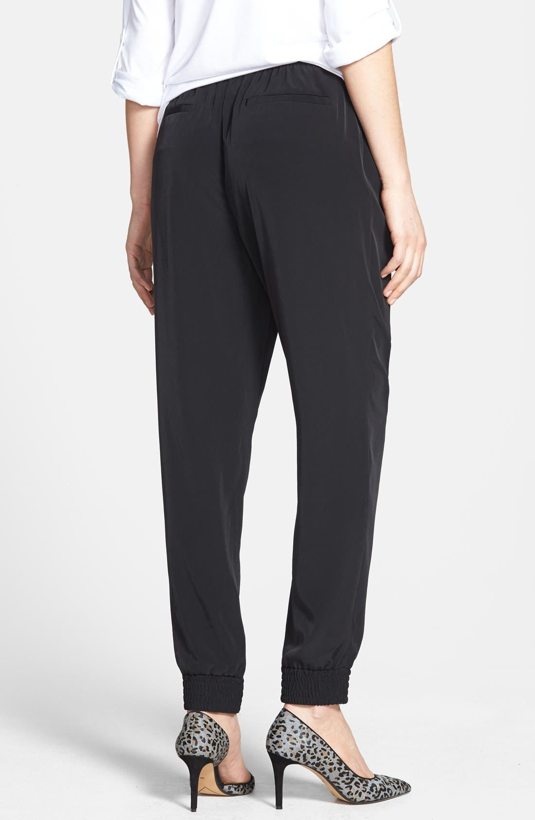 Alternate Image 2  - Halogen® Zip Detail Track Pants (Regular & Petite) (Online Only)
