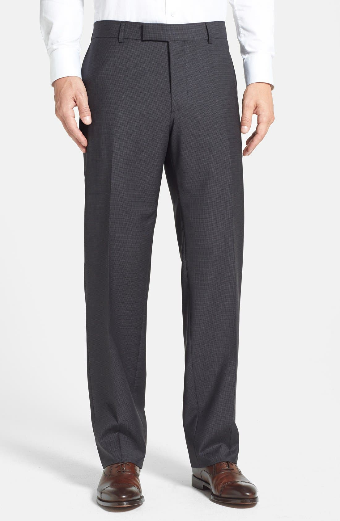 Alternate Image 1 Selected - BOSS HUGO BOSS 'Jeffrey' Flat Front Trousers