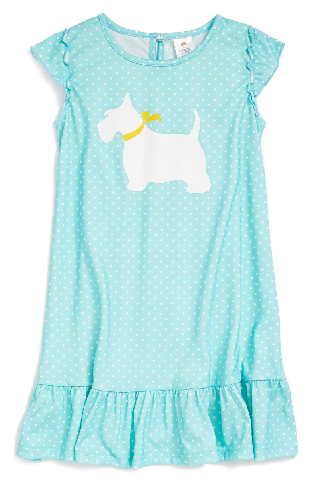 Alternate Image 1 Selected - Tucker + Tate Ruffle Nightgown (Toddler Girls, Little Girls & Big Girls)