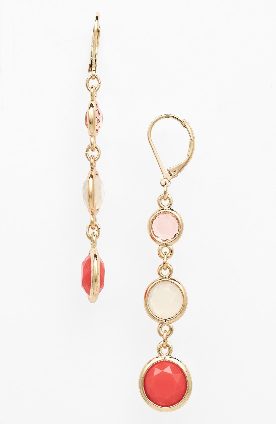Main Image - Anne Klein Stone Triple Drop Earrings