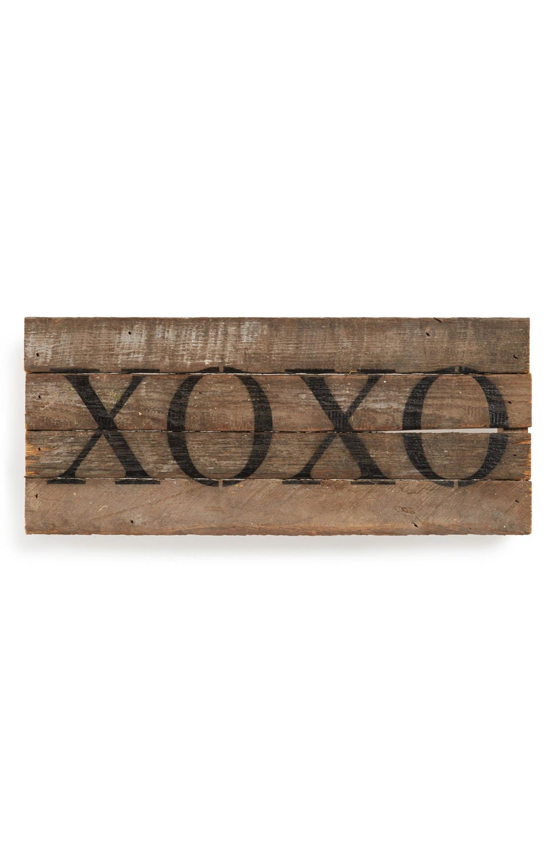 Alternate Image 1 Selected - Second Nature by Hand 'XOXO' Repurposed Wood Wall Art