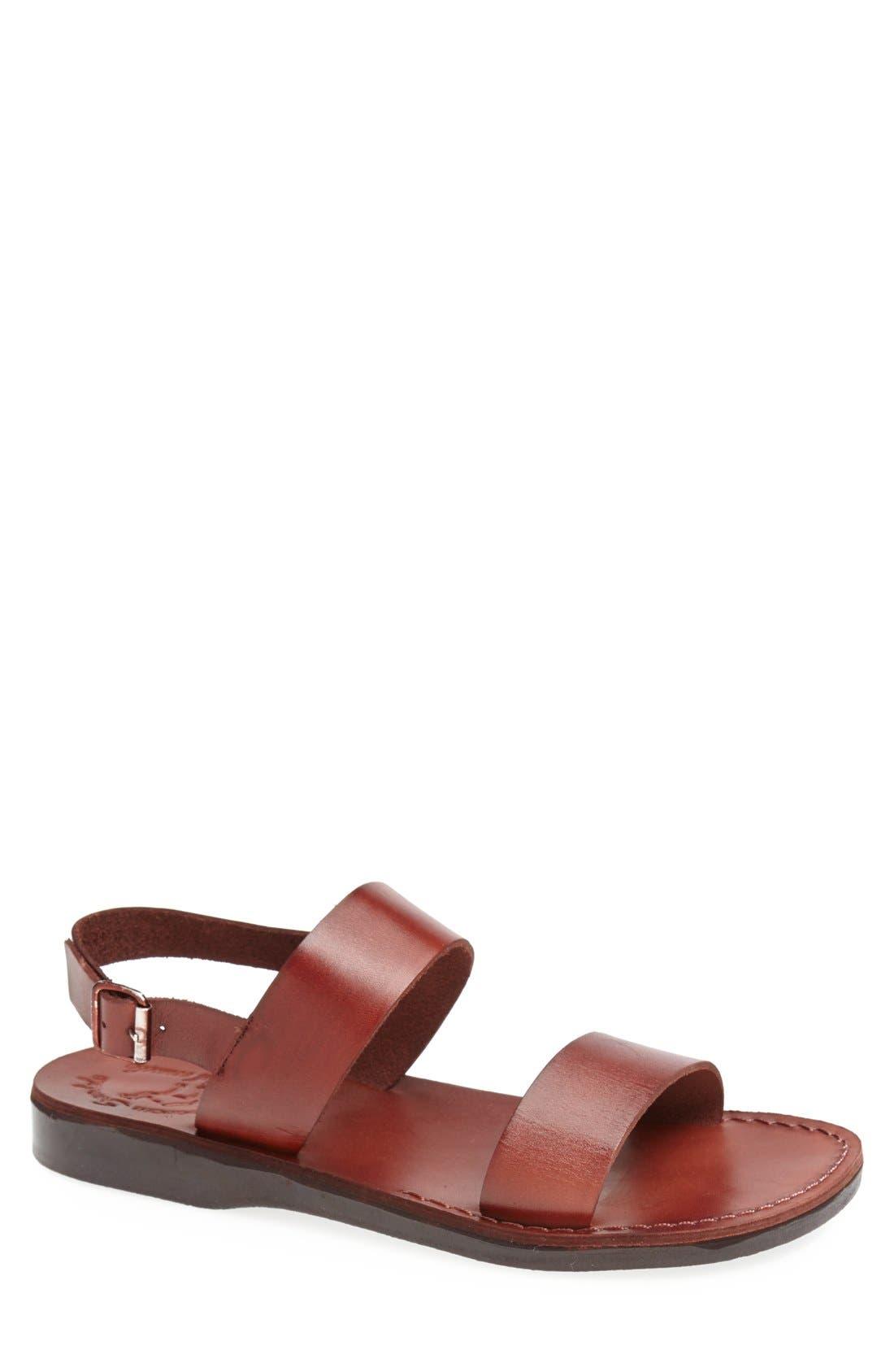 Jerusalem Sandals 'Golan' Leather Sandal (Men)