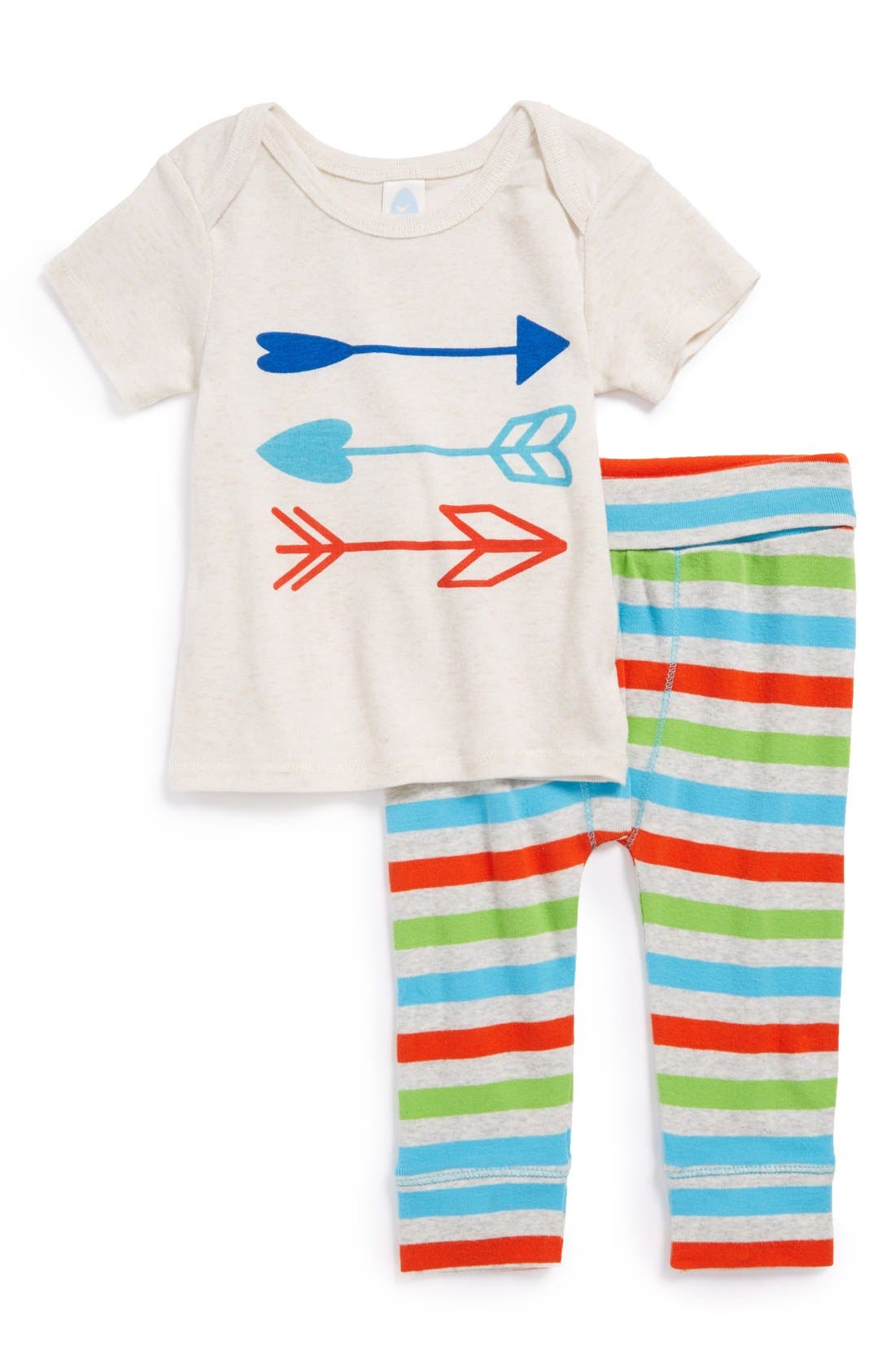 Alternate Image 1 Selected - Stem Baby Organic Cotton Top & Pants (Baby Girls)