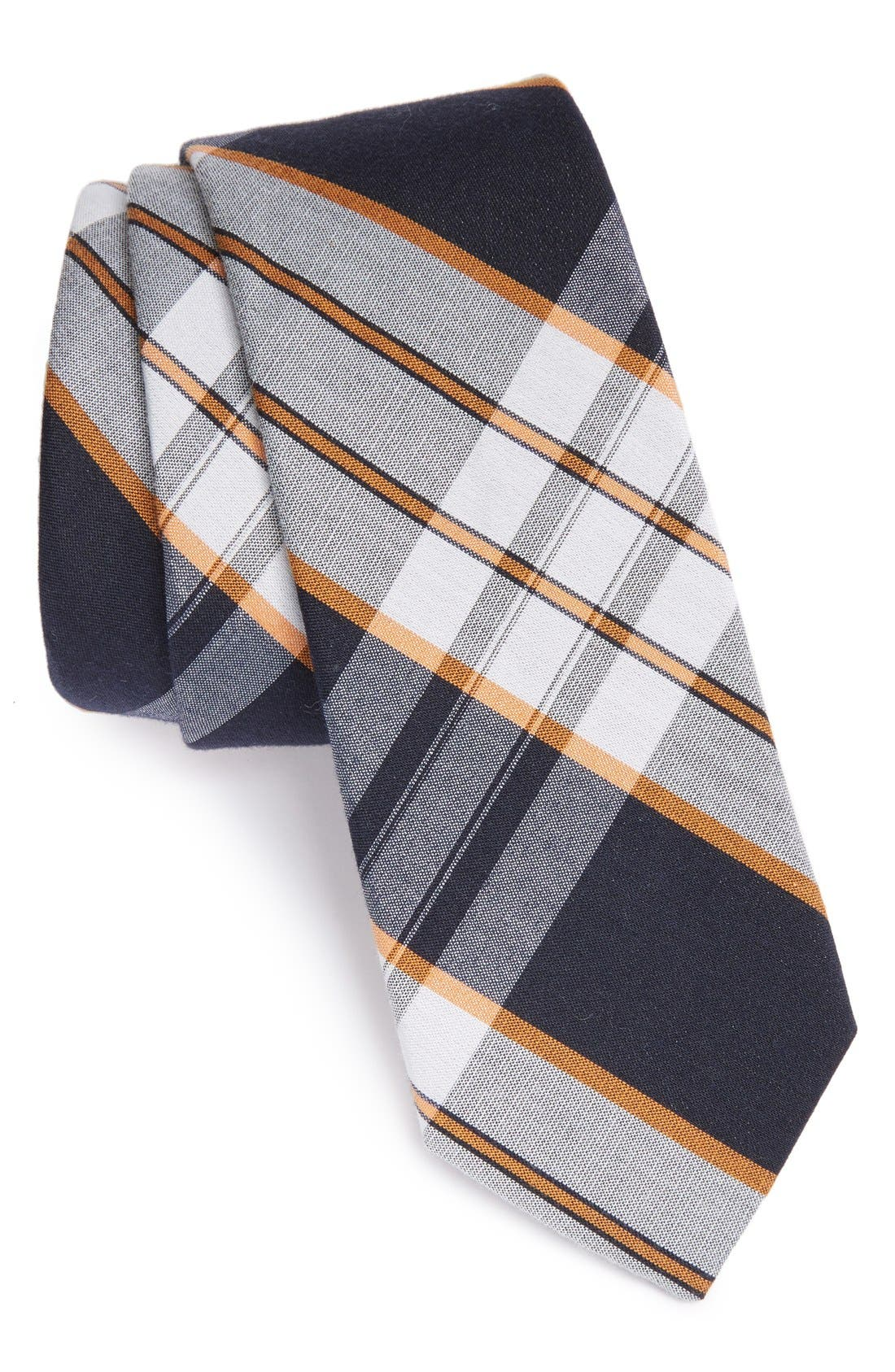 'Boldin' Woven Silk Tie,                             Main thumbnail 1, color,                             Orange