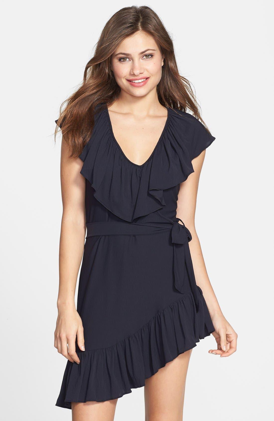 Main Image - Luli Fama 'Unwrap Me' Asymmetrical Ruffle Dress