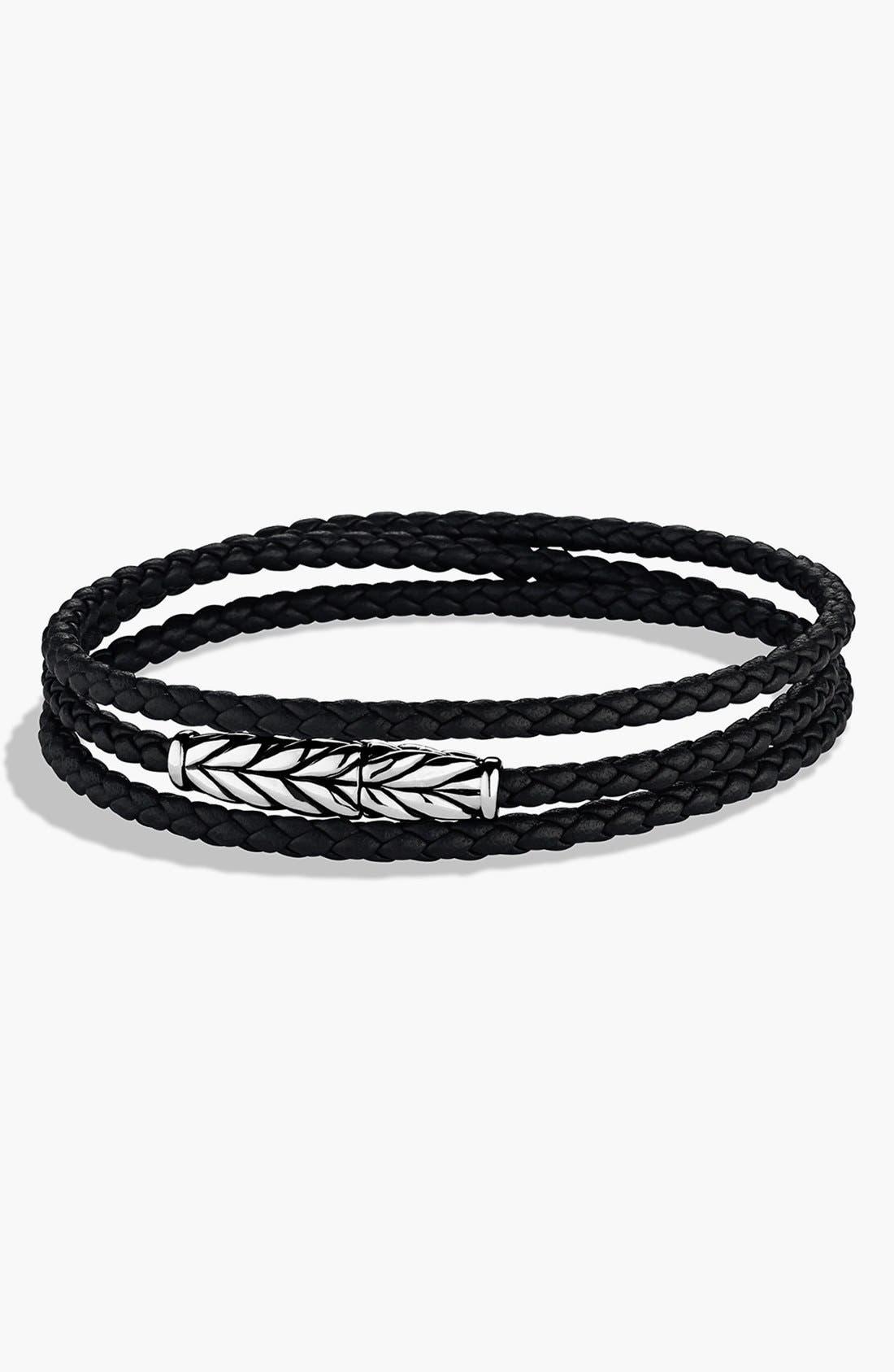 David Yurman 'Chevron' Triple-Wrap Bracelet