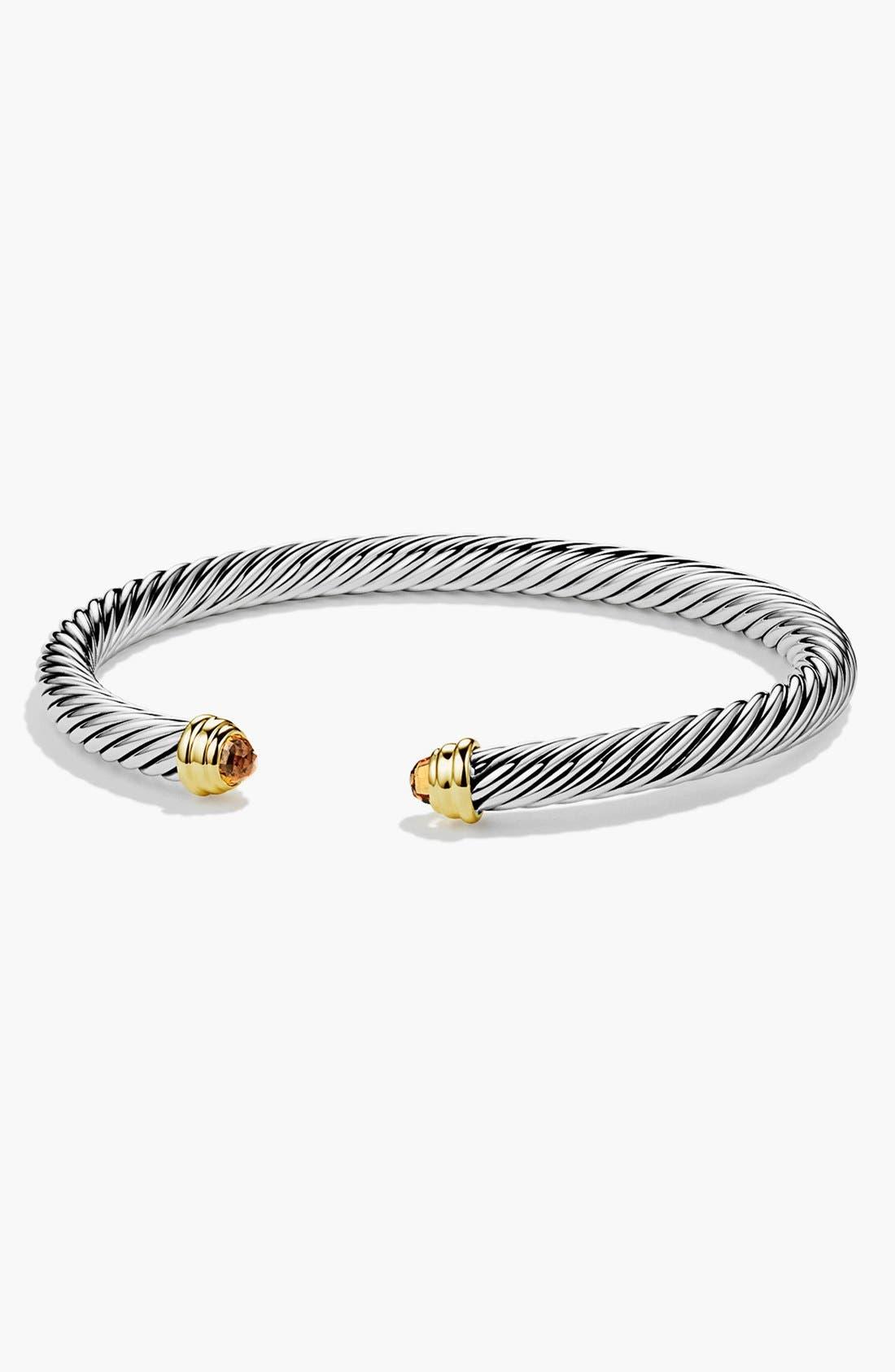 Main Image - David Yurman 'Cable Classics' Bracelet with Semiprecious Stones & Gold