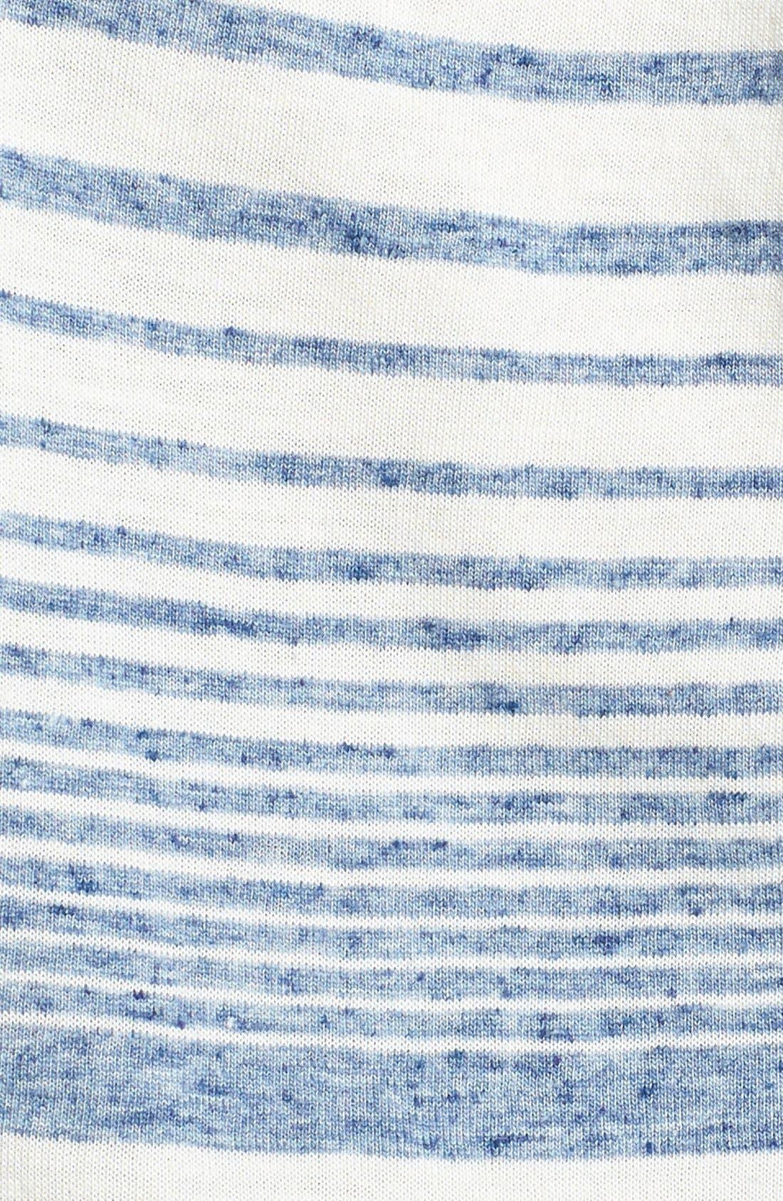 Alternate Image 3  - C & C California Stripe Drawstring Maxi Dress