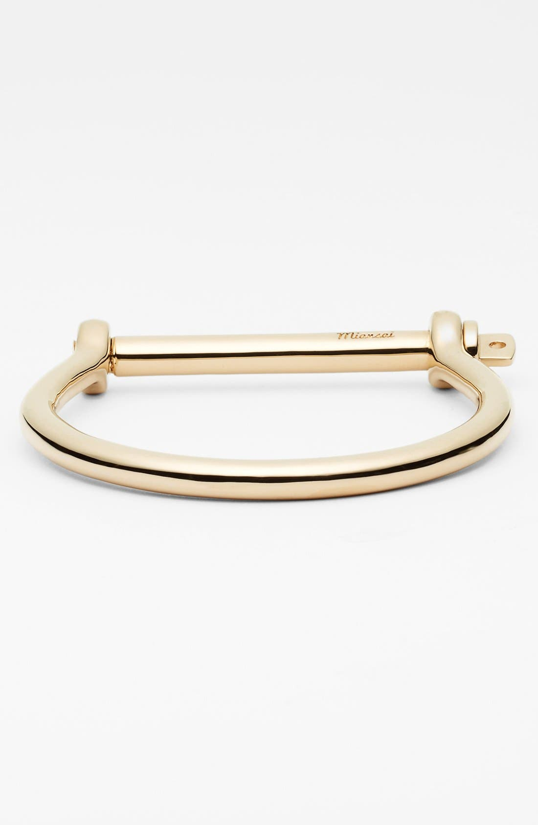 Gold Plated Screw Cuff Bracelet,                             Main thumbnail 1, color,                             Gold Polished