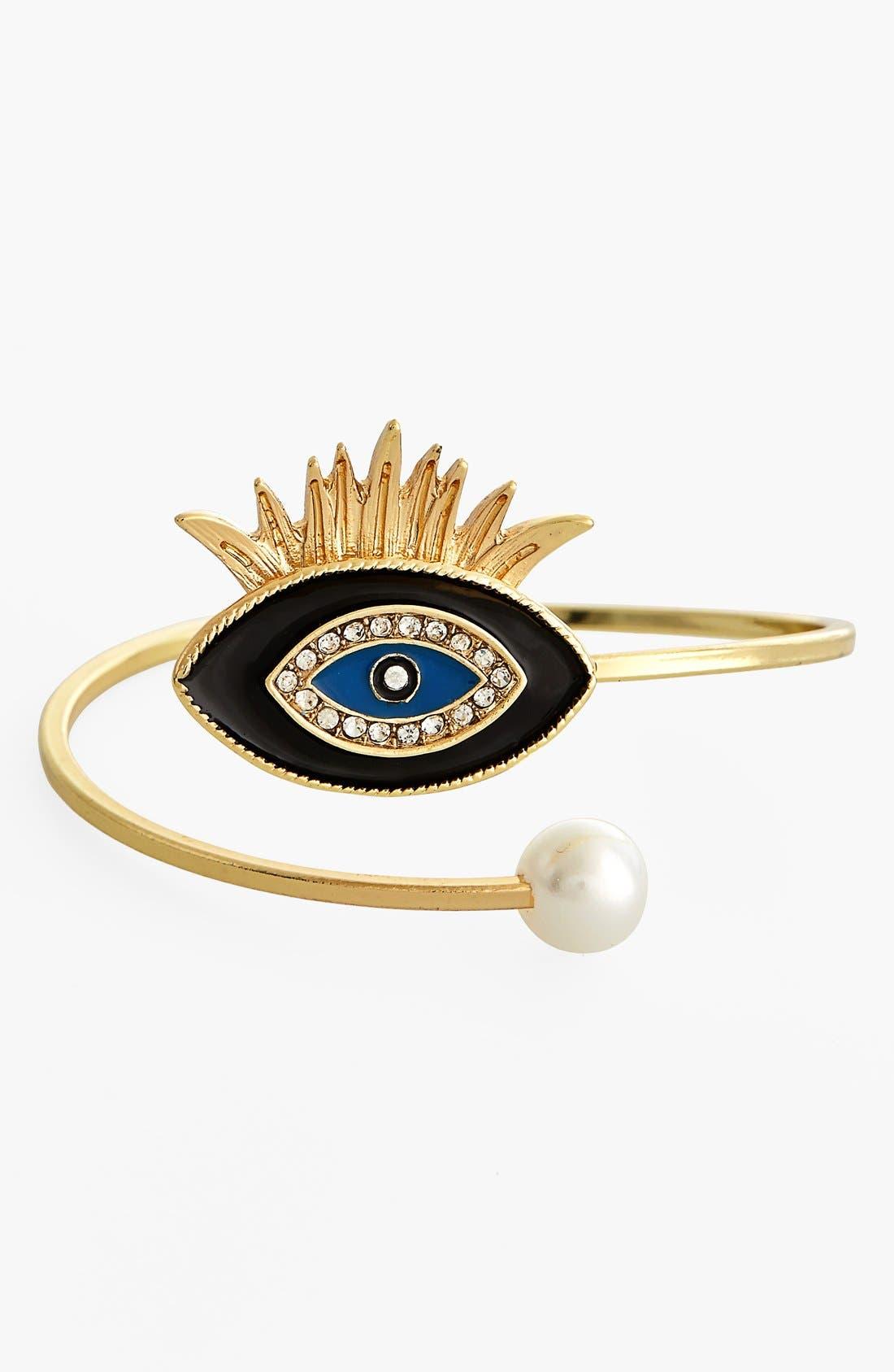 Main Image - Leith Evil Eye & Faux Pearl Bracelet