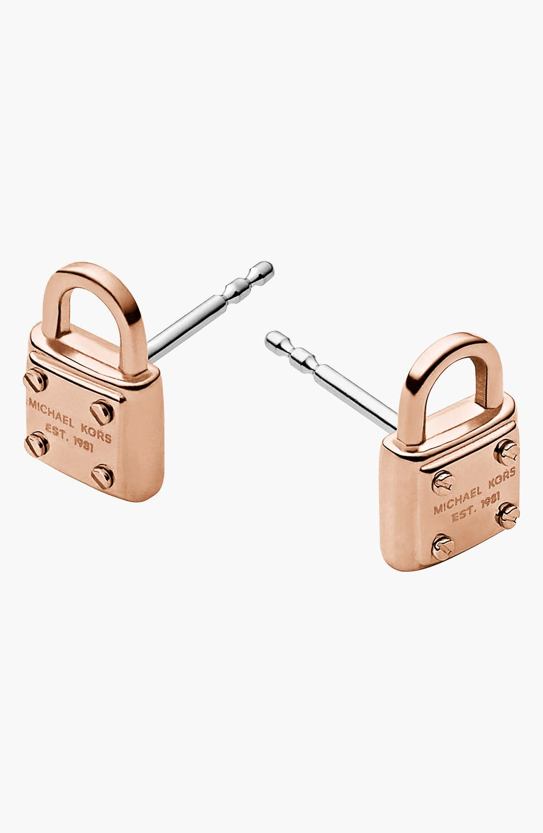 Main Image - Michael Kors 'Padlock' Stud Earrings