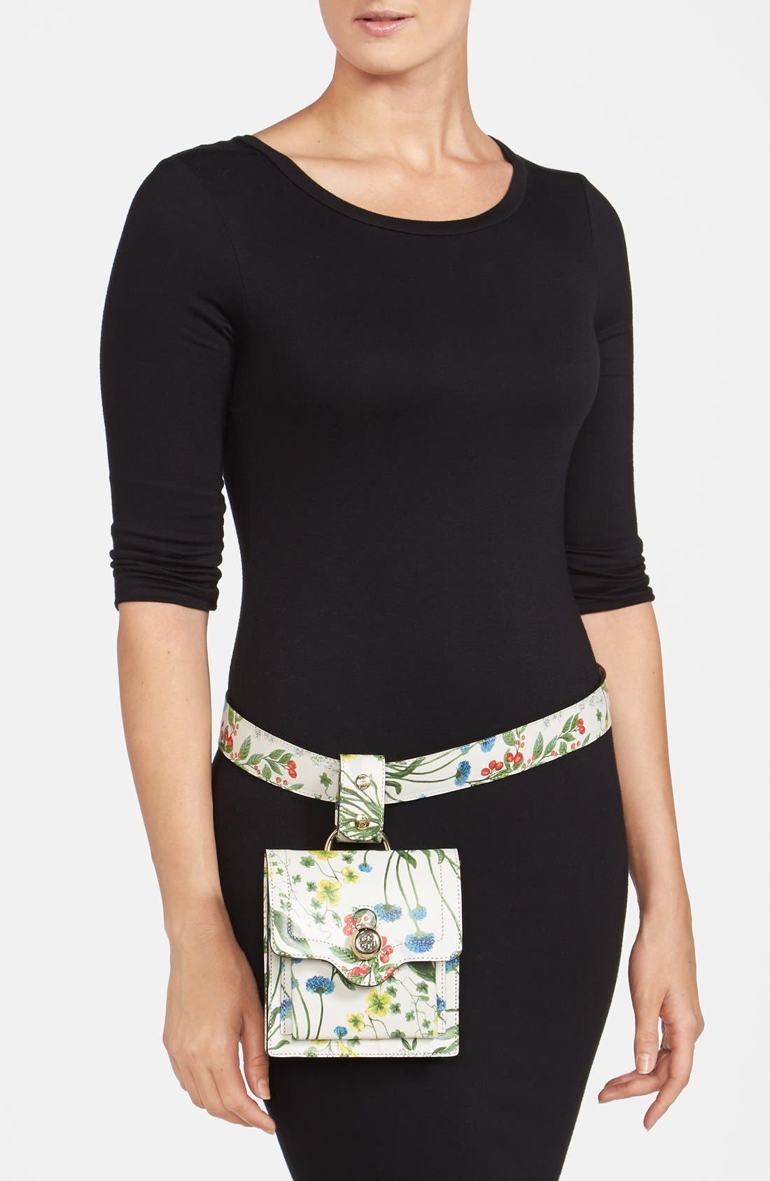 Alternate Image 4  - Tory Burch Print Leather Belt Bag