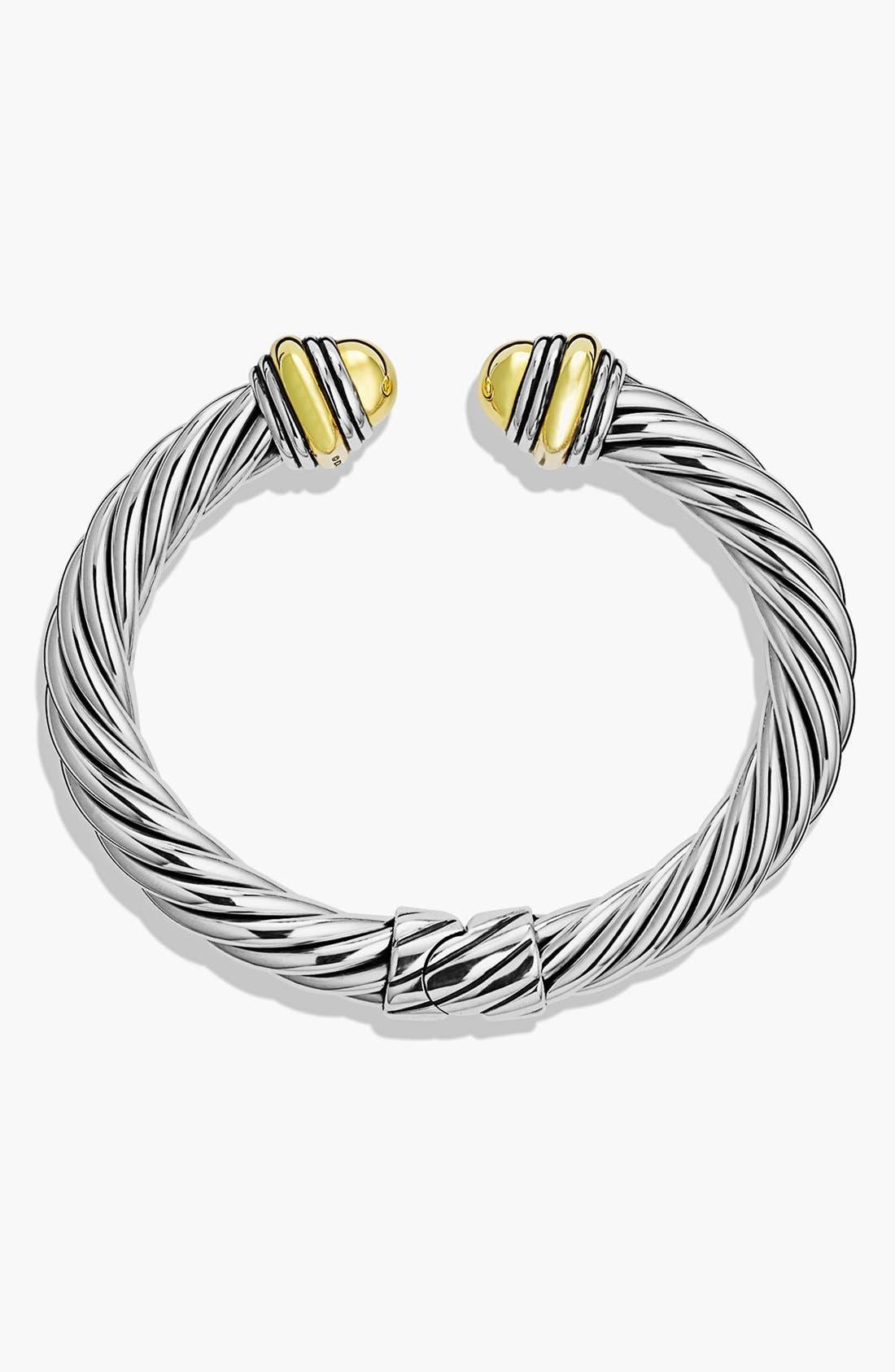 Alternate Image 2  - David Yurman Cable Classics Bracelet with 14K Gold, 7mm