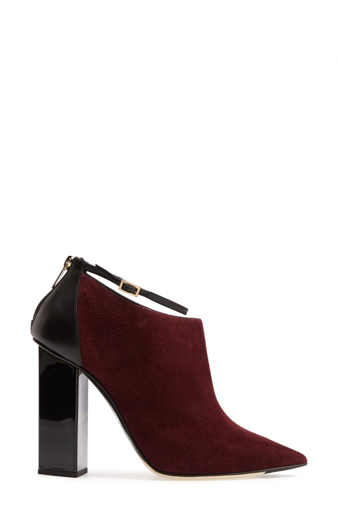 'Vanish' Leather Bootie,                             Alternate thumbnail 4, color,                             Mirto