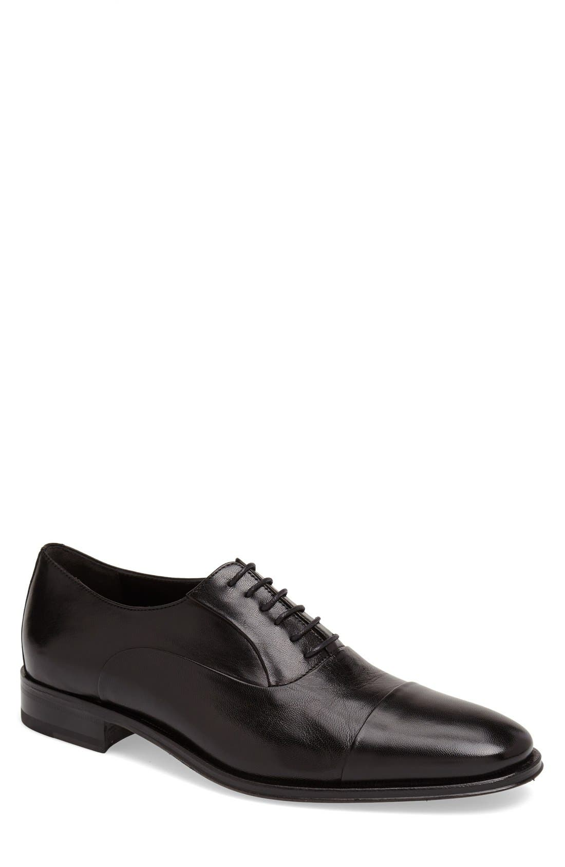 'Maioco' Oxford,                             Main thumbnail 1, color,                             Black Calf