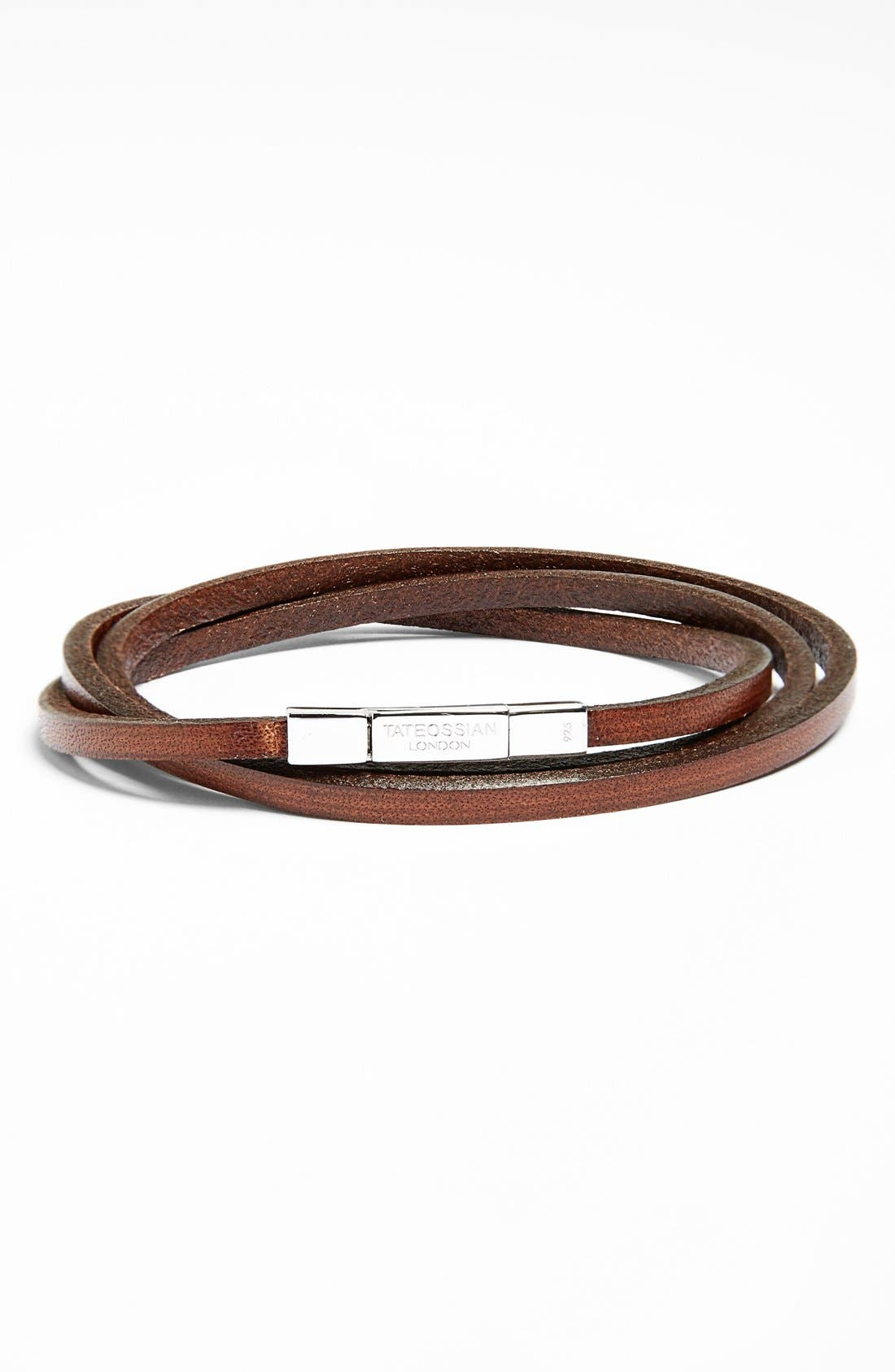 Alternate Image 1 Selected - Tateossian Leather Wrap Bracelet