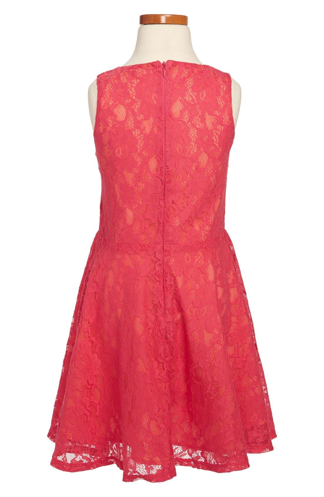 Alternate Image 2  - Miss Behave 'Sofia' Lace Dress (Big Girls)