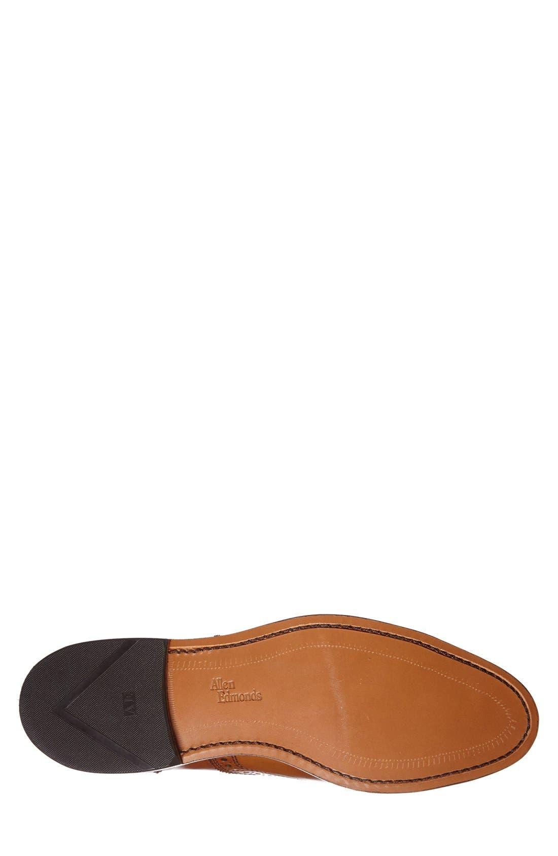 'Strand' Cap Toe Oxford,                             Alternate thumbnail 4, color,                             Walnut Leather