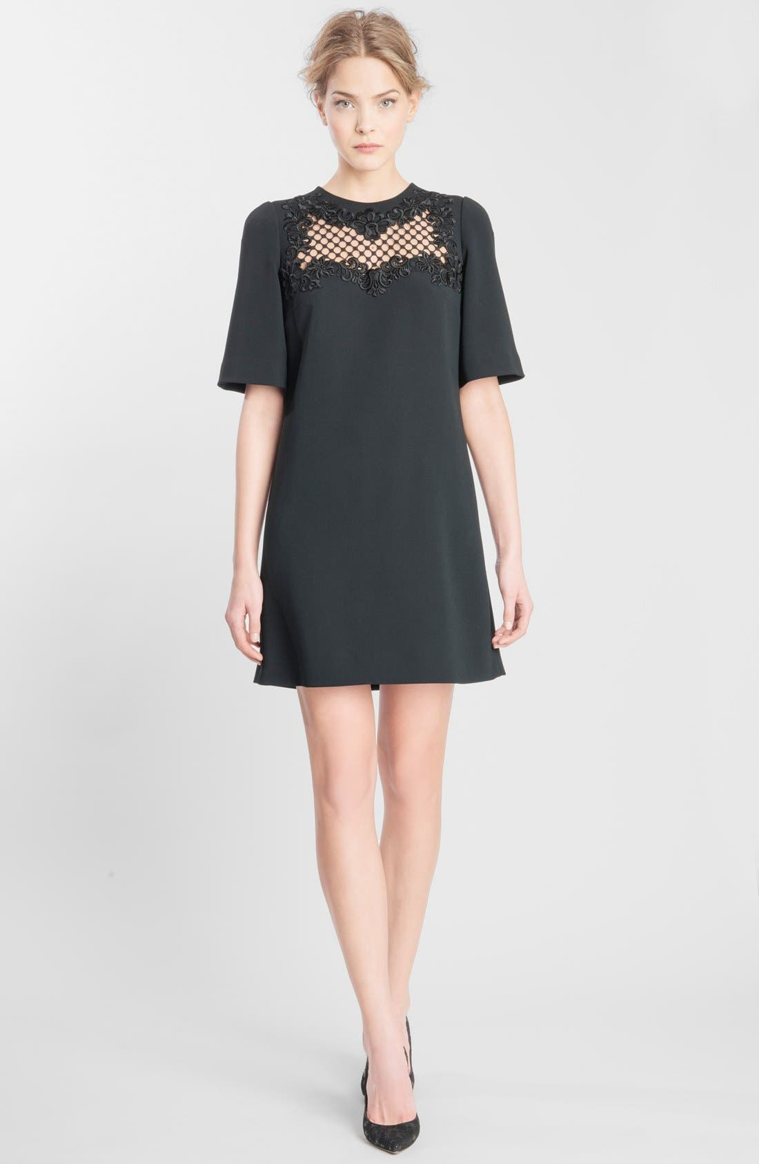 Alternate Image 1 Selected - Dolce&Gabbana Embroidered Yoke Shift Dress