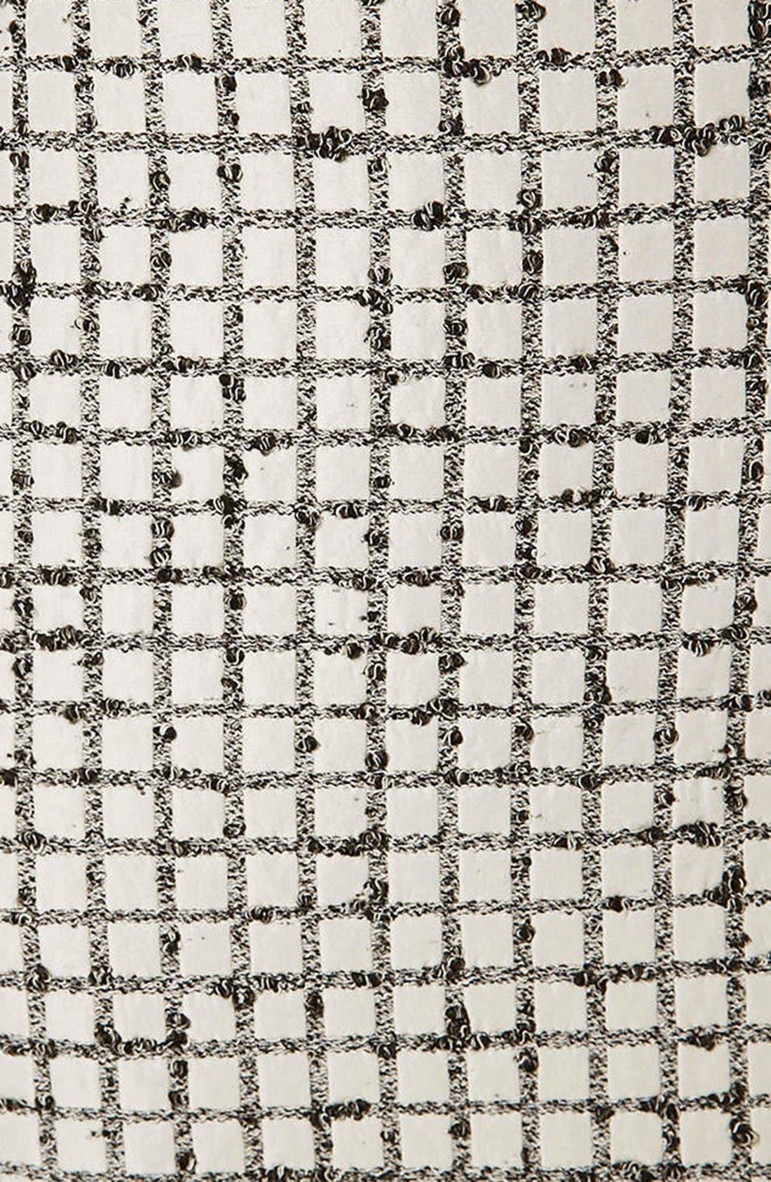 Alternate Image 4  - Topshop Boutique Textured Grid Pencil Skirt