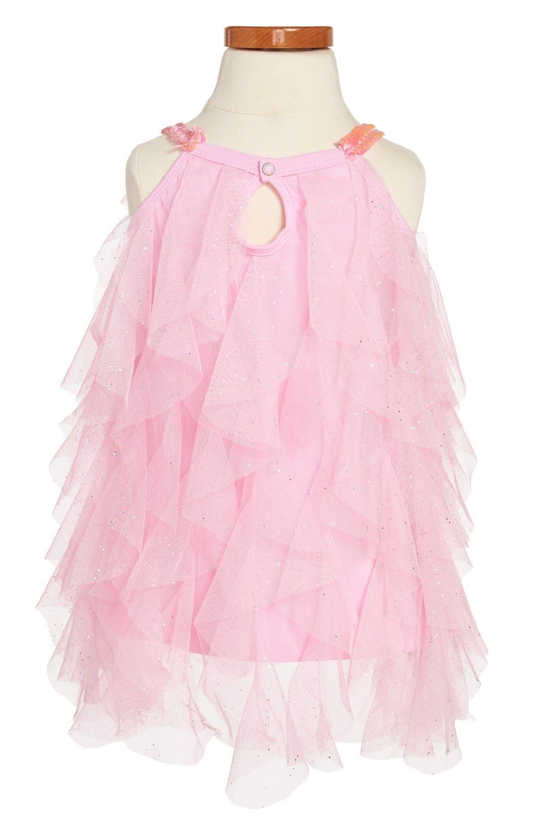 Alternate Image 2  - Popatu 'Wave' Sequin Dress (Toddler Girls)
