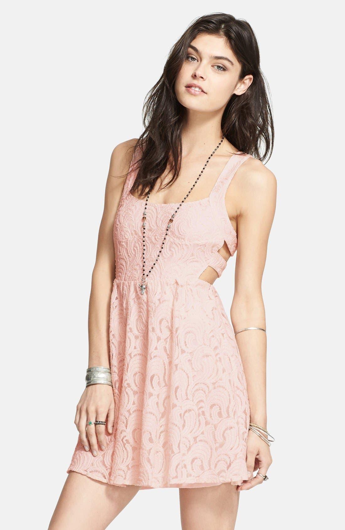 Alternate Image 1 Selected - Free People Cutout Lace Dress