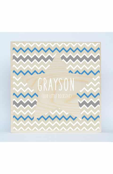 Someday inc personalized baby gifts nordstrom someday inc chevron star personalized birchwood negle Gallery