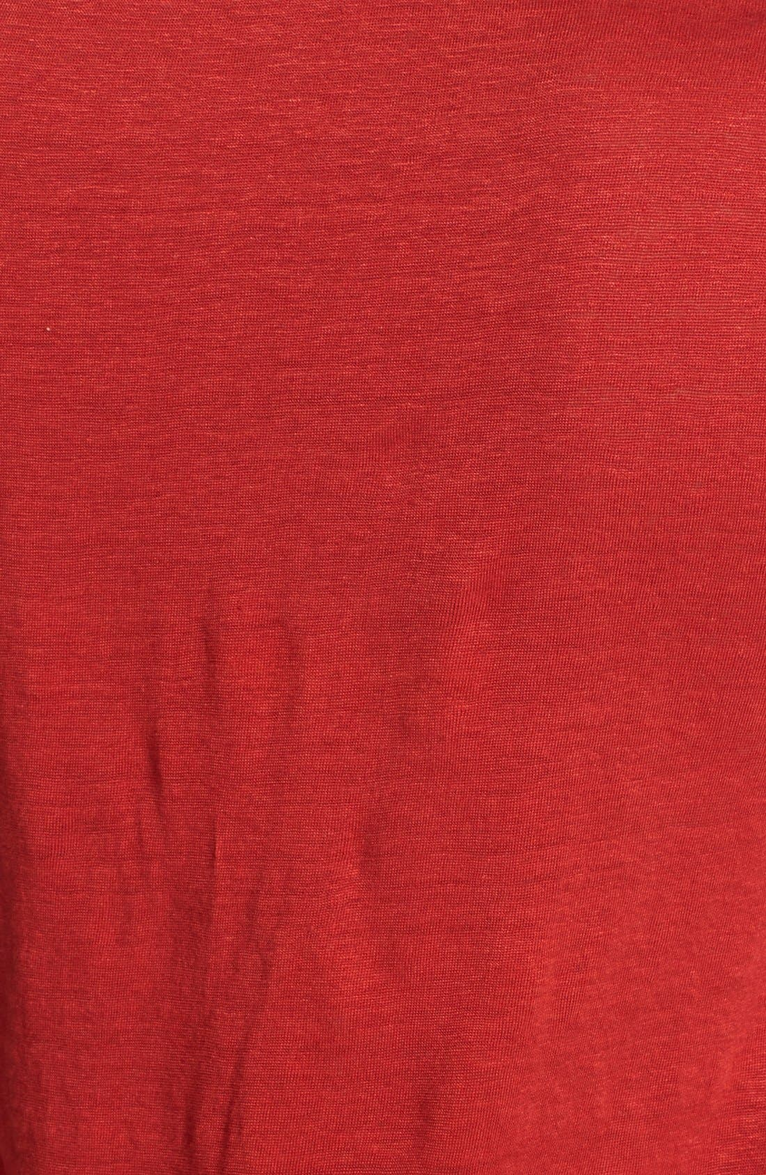 Alternate Image 3  - Eileen Fisher U-Neck Organic Linen A-Line Tee