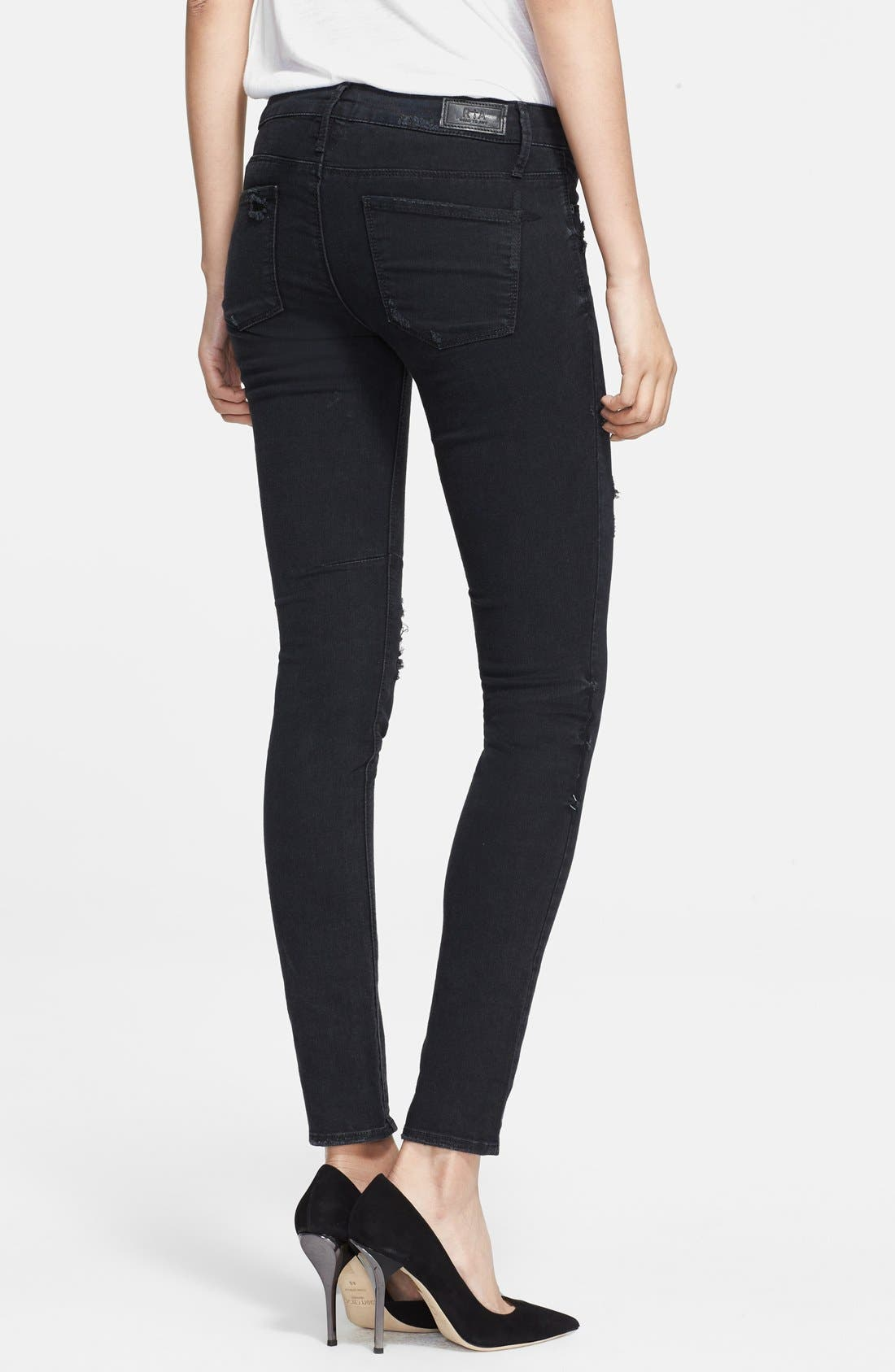 Alternate Image 2  - RtA Skinny Jeans (Black Destroyed)