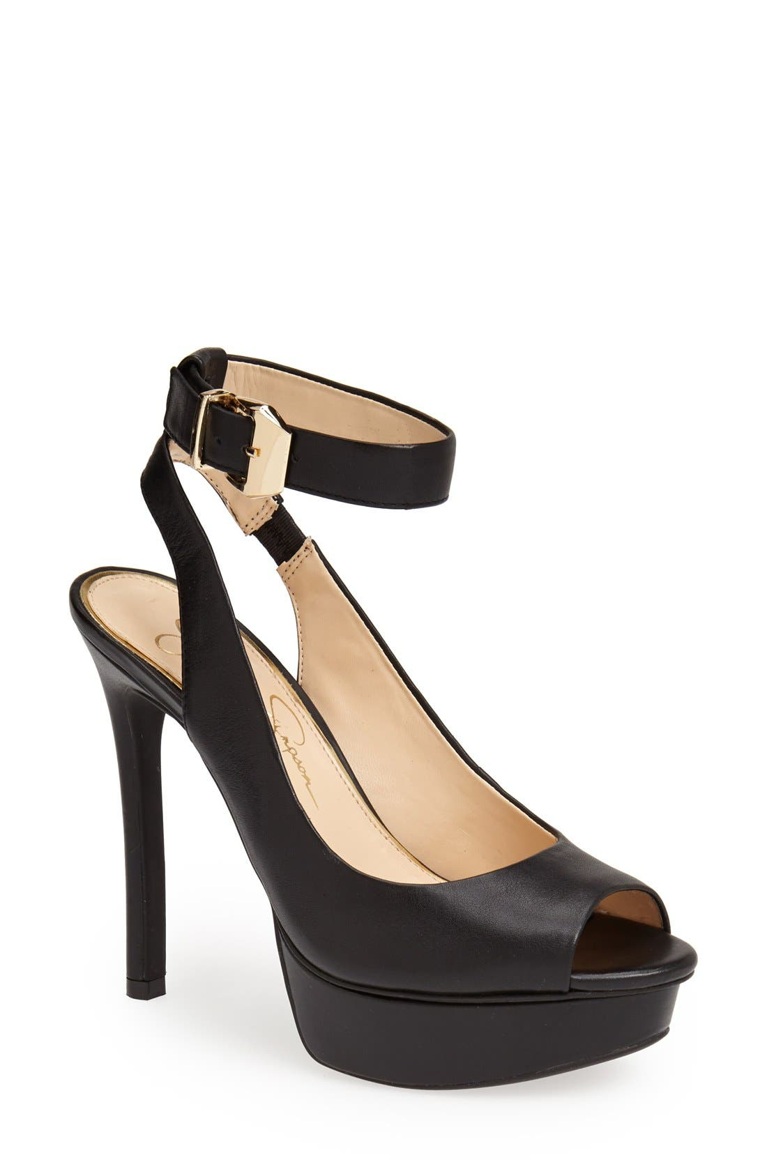 Alternate Image 1 Selected - Jessica Simpson 'Careen' Platform Sandal (Women)
