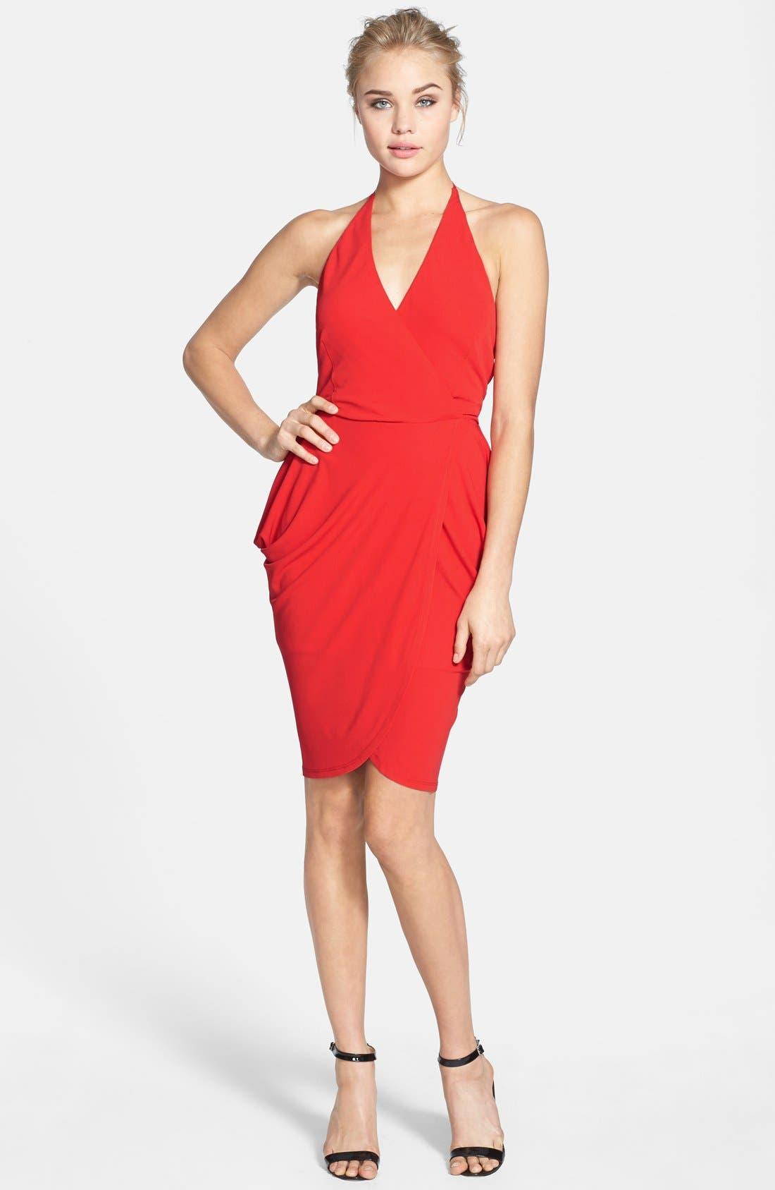 Alternate Image 3  - Alexia Admor Tulip Hem Halter Dress