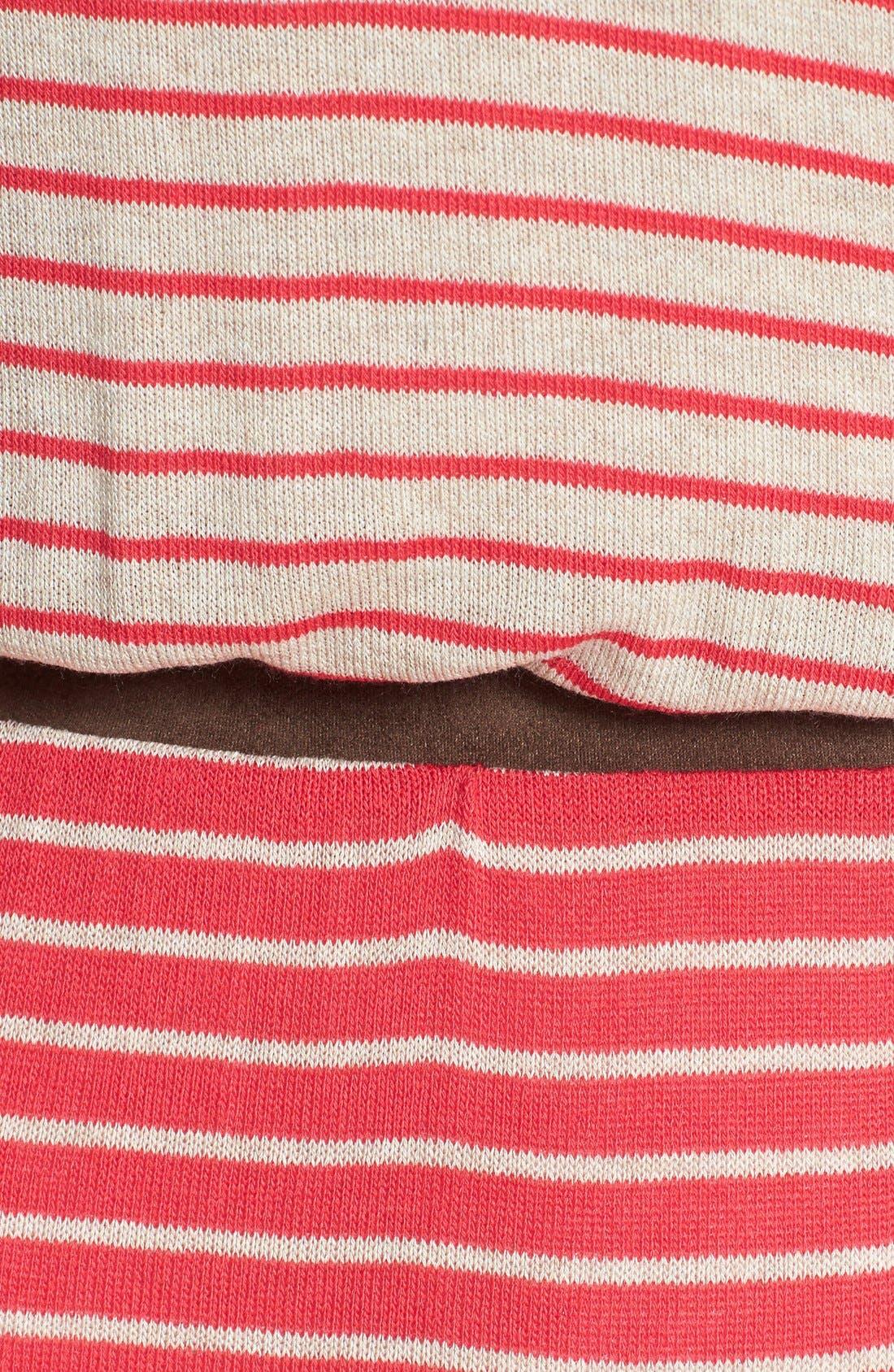 Alternate Image 3  - Tart 'Maris' Faux Suede Trim Stripe Maxi Dress