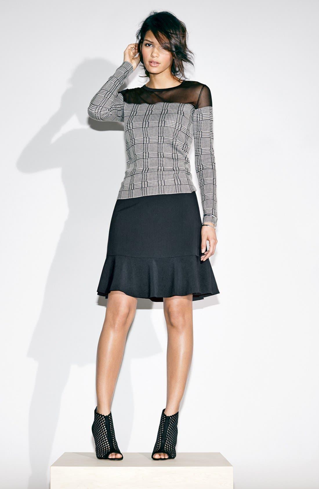 Alternate Image 4  - Vince Camuto Ruffle Hem Skirt (Regular & Petite)