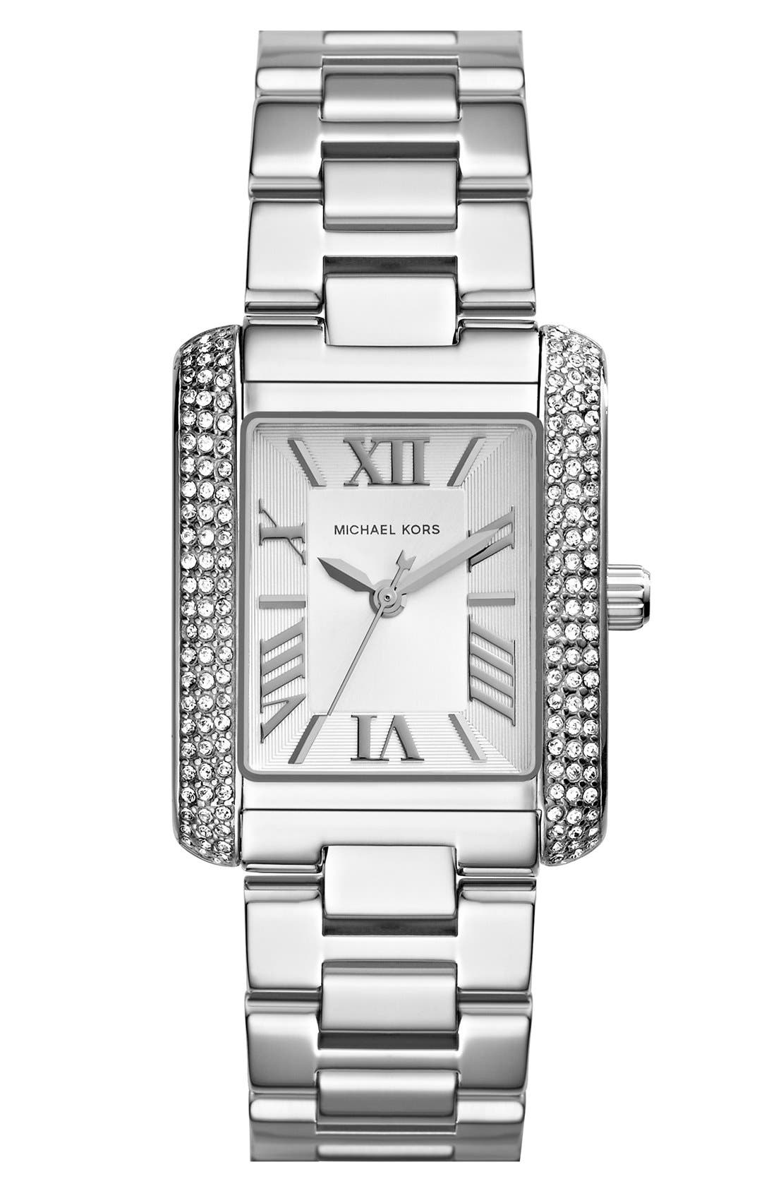 Alternate Image 1 Selected - Michael Kors 'Petite Emery' Crystal Accent Bracelet Watch, 33mm