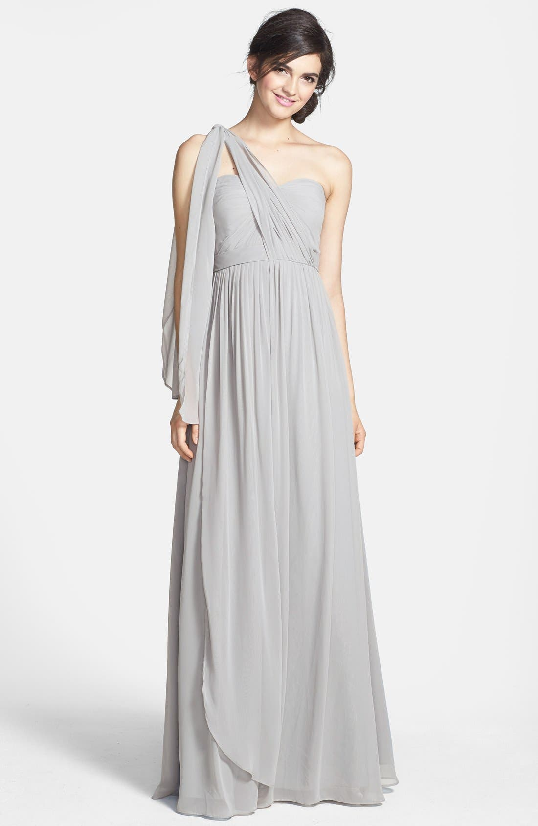 Alternate Image 3  - Jenny Yoo 'Aidan' Convertible Strapless Chiffon Gown