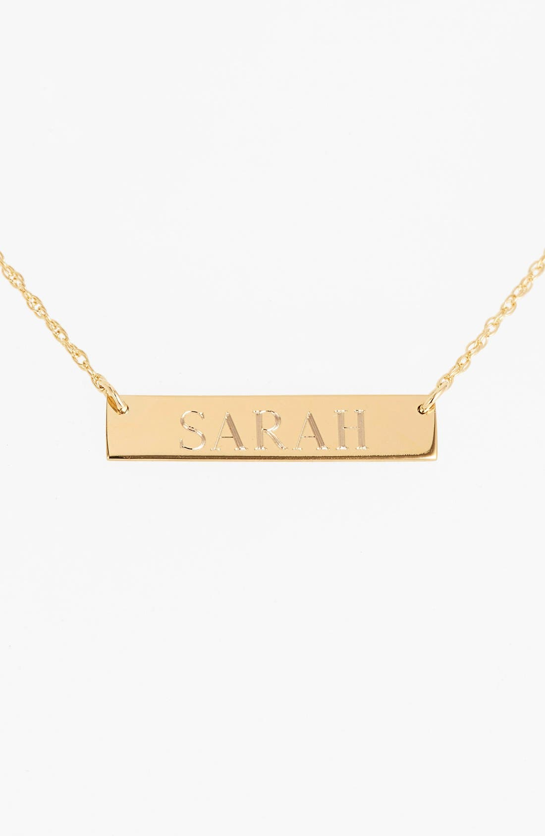 Alternate Image 2  - Moon and Lola 'Block Font' Personalized Bar Pendant Necklace (Online Only)