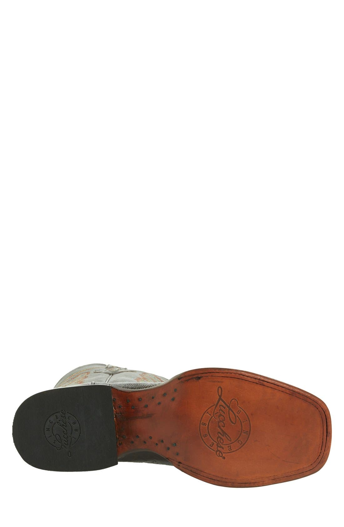 Alternate Image 4  - Lucchese Square Toe Leather Boot (Men)