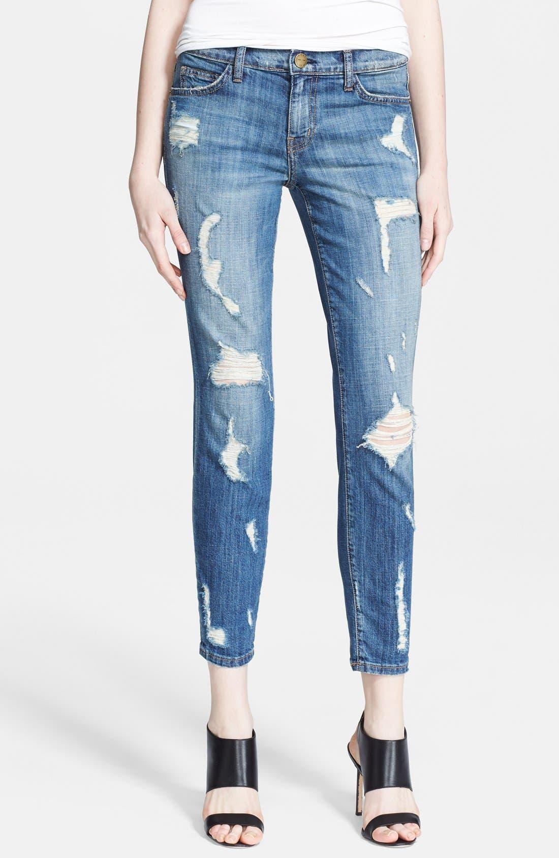 Alternate Image 1 Selected - Current/Elliott 'The Stiletto' Skinny Jeans (Jodie Shredded)