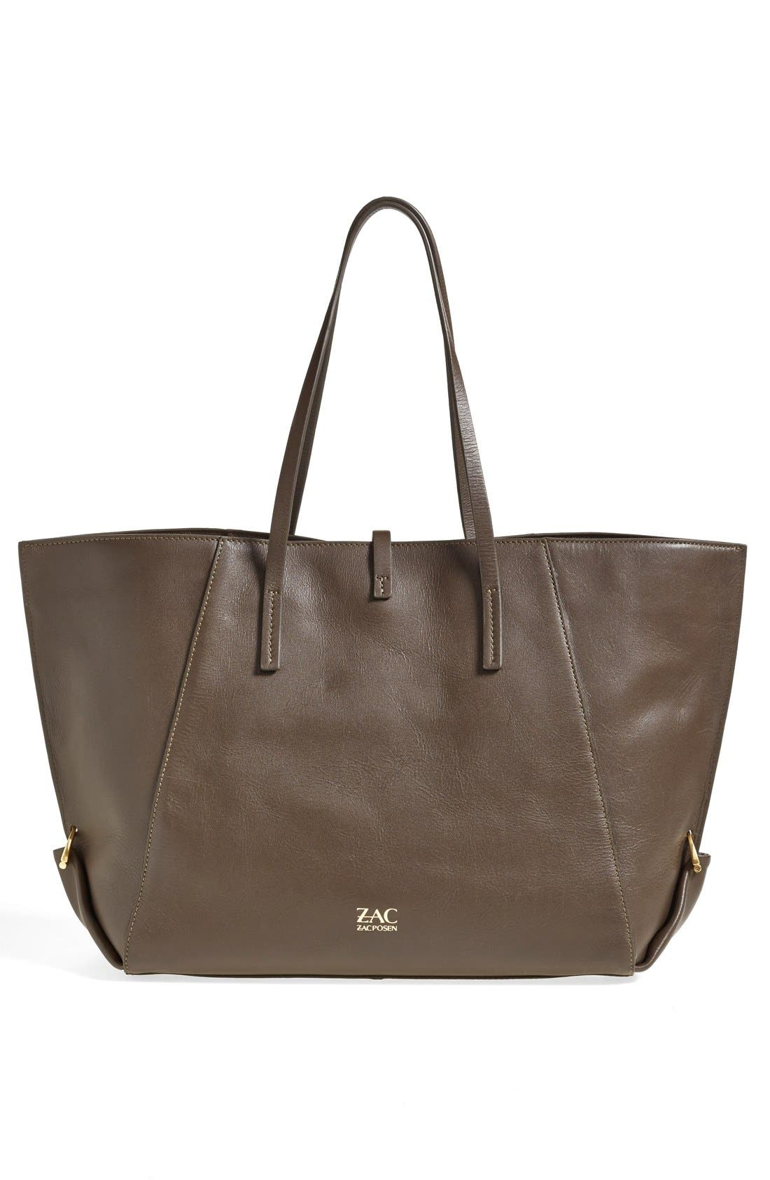 Alternate Image 4  - ZAC Zac Posen 'Eartha' Leather Shopper