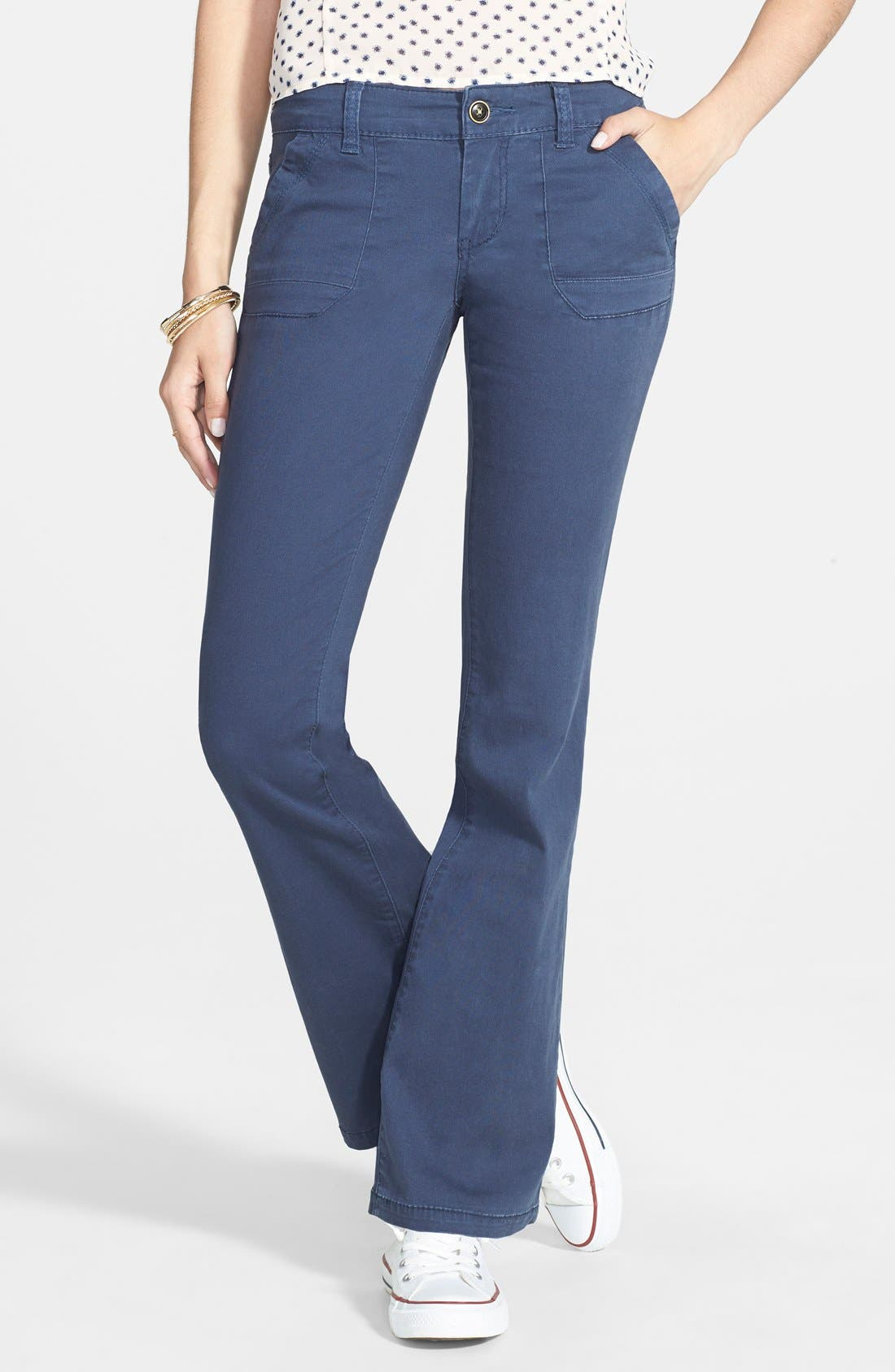 Main Image - French Star 'Dandy Porkchop' Bootcut Trousers (Juniors)