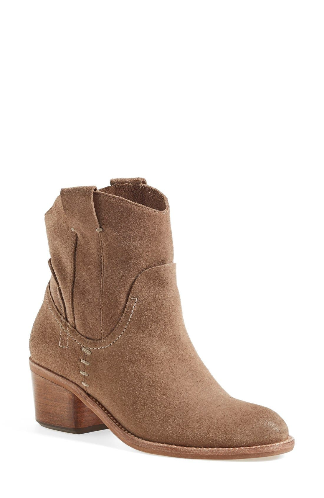 'Graham' Suede Bootie,                             Main thumbnail 1, color,                             Taupe Suede
