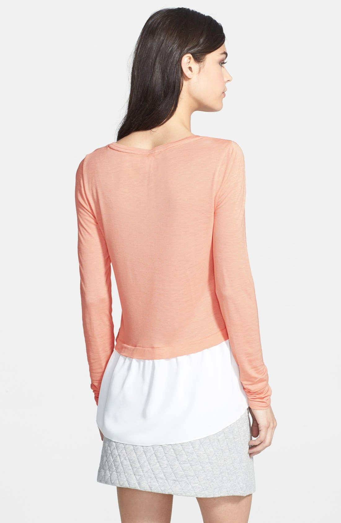 Alternate Image 2  - Hinge® Chiffon Hem Layered Top